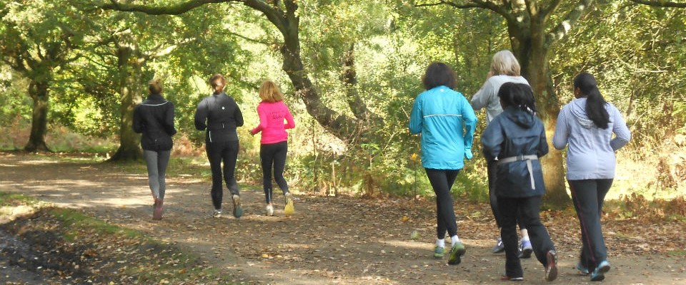 beginner runners on Wimbledon Common